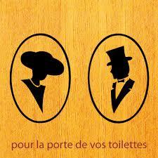 stickers pour la porte des toilettes homme femme pièces de la