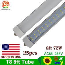 8ft t8 fa8 single pin row led light 72w led l