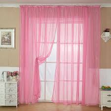 Walmart Mainstay Sheer Curtains by Home Pink Voile Sheer Curtain Panel Drapes For Window Door Decor
