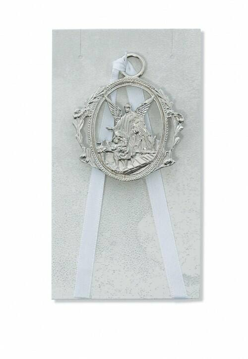 McVan Guardian Angel Crib Medal Whit