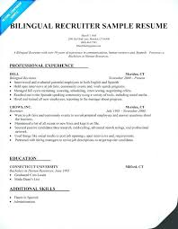 Resume Spanish Skills How To Write Bilingual On Recruiter College Example Sample Samples Across All Industries