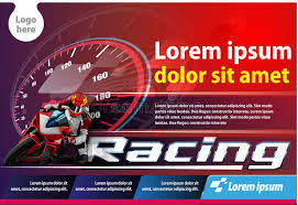 Download Horizontal Poster Racing Stock Vector Illustration Of Event