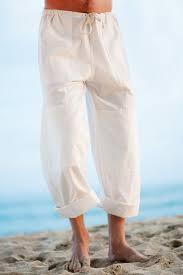 Kundalini Yoga Cotton Pants For Men Loose Fit White