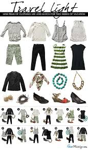 Light Packing Travel Outfits For Spring And Summer Nine Items Of Clothing Mix