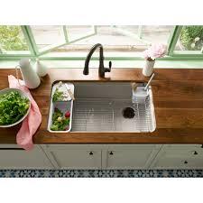 33x22 Undermount Kitchen Sink by Kohler K 5871 5ua3 0 Riverby White Undermount Single Bowl Kitchen