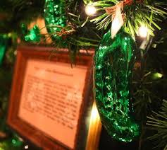 A Christmas Pickle Tree Decoration