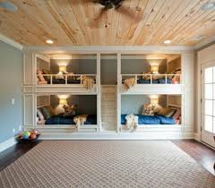 Built In Bunk Beds Are Perfect For Frequent Sleepovers Or Quadruplets Everyone Gets Their Own Reading Light Shelves To Store Things And A Snuggle Place