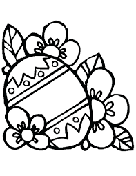 Flowers Coloring Pages Happy Easter Free Printable Full Size