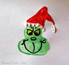 The Grinch Christmas Tree Star by Christmas Fingerprint Crafts U Create