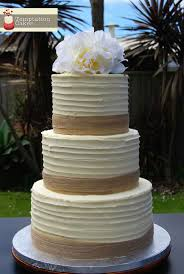 Hessian Ribbon Rustic Wedding Cake Auckland 595