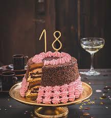 torte zum 18 geburtstag schokoladentorte mit wunderkerzen