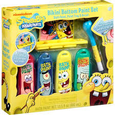 nickelodeon spongebob squarepants bikini bottom bath time paint