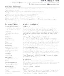 Resume Of A Web Developer Programmer Examples Nice Example