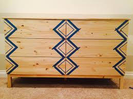 Ikea Tarva 6 Drawer Dresser Hack by Easy Ikea Hack Fun Painted Dresser Miss Bizi Bee