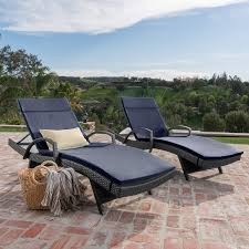 Olivia Patio Furniture ~ Outdoor Wicker Chaise Lounge Chair With Arms W/  Water Resistant Cushions (Set Of 2) (Navy Blue) Amazoncom Wnew 3 Pcs Patio Fniture Outdoor Lounge Stark Item Chaise Chair Brown Festival 2pcs Patiorama Adjustable Pool Rattan With Cushion Espresso Pe Wickersteel Frame Christopher Knight Home 80x275 Green Pads For Chairs Set Of 2 Gojooasis Recliner Styles Biscayne Huyya Lounges Sun Outmax Wicker Folding Back Footrest Durable Easy Carry Poolside Garden 14th Mobility Armrest Chair Staggering Medium Pc