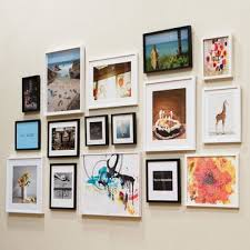 Love The Mix Of Black And White Frames In Different Sizes Frame Wall CollagePhoto