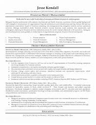Example Resume Project Manager For Free Job Cv Of