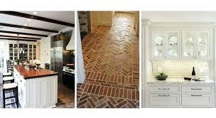 Brick Kitchen Floor Epic Dining Room Ideas Plus White Cabinets Uk