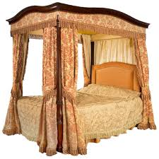 Early 20th Century Mahogany Frame Four Poster Bed For Sale at 1stdibs