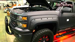 FLAT BLACK 2014 Chevy Silverado 1500 Lifted On 22