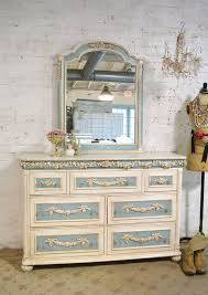 Palais Royal Kent Coffey Dresser by Shabby Cottage Chic 5 Drawer White Highboy Dresser French Vintage