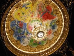 le plafond peint par marc chagall et le luxuriant lustre de 8