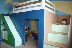 Queen Size Loft Bed Plans by Ana White My First Build Queen Size Playhouse Loft Bed Diy