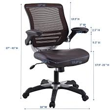 Modway Edge Mesh Back And Brown Vinyl Seat Office Chair With ... A Review Of The Remastered Herman Miller Aeron Office Modway Articulate Mesh Chair With Fully Adjustable In Black Faux Leather Seat Benithem High Quality Ergonomic Executive Chairs Highback Mulfunction Task Bifma Details About Tall Drafting With Swivel Brown Highmark Bolero Orange Vinyl Covered Giant Orthopedic Reviews Unique Edge Back And In Flipup Arms Best Gaming Chairs Pc Gamer The 7 20 For Productivity