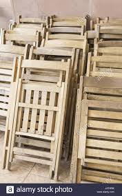 Wooden Folding Chairs Event Furniture And Celebration Stock ...
