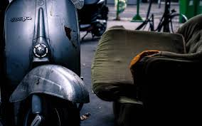 Old Vespa Scooter HD Wallpaper