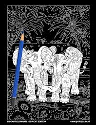 Elegant Elephants Day Night Marjorie Sarnat Design Illustration