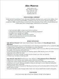 Housekeeper Resume Sample Cleaning Manager Housekeeping Private Home