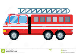 Fire Truck Car Vector Illustration Isolated Cartoon Silhouette Fast ...