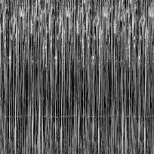 metallic foil fringe curtain