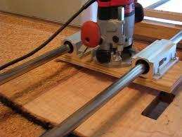 router jig to flattten large slabs finewoodworking
