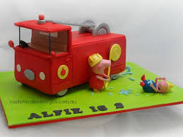 Peppa Pig Fire Truck Cake - CakeCentral.com Fisher Price Little People Red Fire Truck Engine Mcdonalds Toy S And Lunches Cake Topper Fondant Handmade Edible Large Jenn Cupcakes Muffins Birthday Wilton Fire Truck Engine Smash Cake Topper First Do You Know Devils Accomdates All Sorts Of Custom Requests Grooms The Hudson Cakery Small Scrumptions Custom Name Red Firetruck Birthday Etsy Ambulance Ambulance