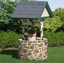 wishing well decoration only outdoor spaces pinterest front