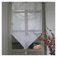 brise bise rideau blanc coton à nouettes ambiance déco de charme
