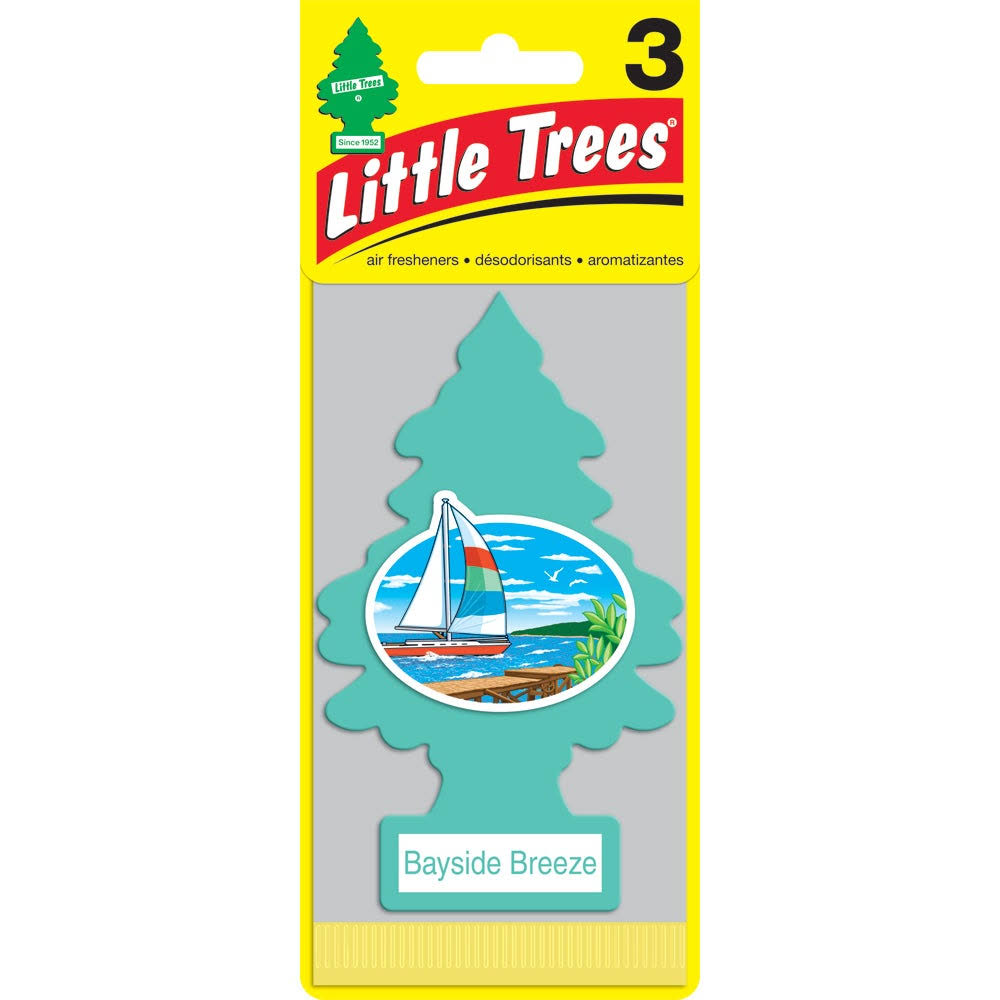 Little Trees Car Air Freshener - Bayside Breeze, 3pk