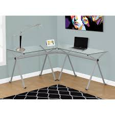Tempered Glass Computer Desk by Tables Enchanting Monarch Specialties L Shaped Computer Desk