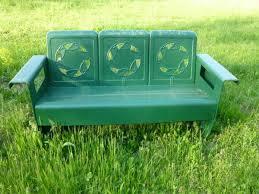 Veranda Metal Patio Loveseat Glider by Circle Of Leaves Vintage Metal Porch Glider My Metal Porch