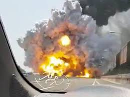Bologna Airport Truck Explosion Creates Giant Fireball, Leaves 2 ... Police Id Father Son Burned In Food Truck Explosion Update Douglas Gas Ruled Accidental See It Garbage Explodes Giant Fireball Along New Jersey At Least 2 People Dead 70 Hurt After Truck Explosion On An Italian Two Men In Critical Cdition After Being Severely Burned Tanker Russian Gas Hd Youtube Witness Dcribes Tanker Trucks 90degree Turn Fiery Crash Macgyver Mail Highspeed Mythbusters Owners Caught Food Die From Injuries Eater Italy Kills Two Injures Dozens 3 Dead 67 Injured After Highway