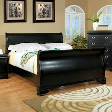 Full Sleigh Bed by Shop Furniture Of America Laurelle Black Sleigh Bed At Lowes Com
