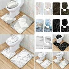 marmor badezimmer dusche 3 stück set badematte