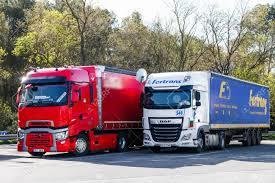 100 Commerical Trucks Catalonia Spain March 9 2019 Semitrailer Trucks Renault