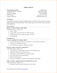 9 College Student Resume Examples Little Experience Basic Job For Students With