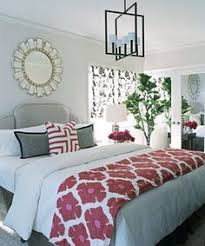white bedrooms with pops of color Google Search