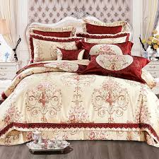 hochzeit luxus bettwäsche sets könig königin größe bett set orientalischen fleck jacquard bettbezug baumwolle bett ausgebreitet blatt set literie