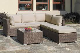 Outdoor Sectional Sofa Set by Lizkona Outdoor Patio 4 Pcs Sectional Sofa Set By Poundex