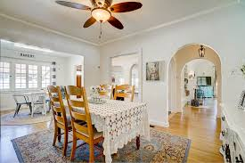 Formal Dining Area With Ceiling Fan And Space For Hutch A Really Long Table Holiday Gatheringswith Views Into The Living Room Family